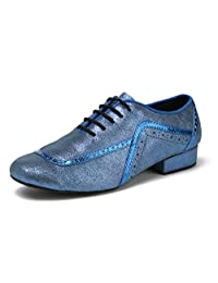 Minitoo GL235 Mens Lace-up Glitter Fashion Tango Latin Ballroom Professional Dance Shoes