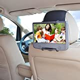 WANPOOL Car Headrest Mount Holder for Portable DVD Player, fit Swivel Screen & Standard Laptop Style Portable DVD Player, Black (DVD Player is not included)