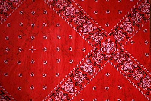 (50 Sheets Red Bandana Gift Wrapping Tissue Paper for Art DIY Crafts in Bulk #283 - Men, Cowboy, Western Size 20