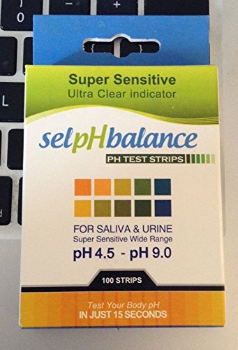 100Ct Excelling Popular pH Balance Tester Strips Urine Saliva Drinking Water Indicator Tool with Color Chart