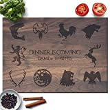 Froolu Dinner Is Coming cutting board for Game of Thrones Christmas Gifts