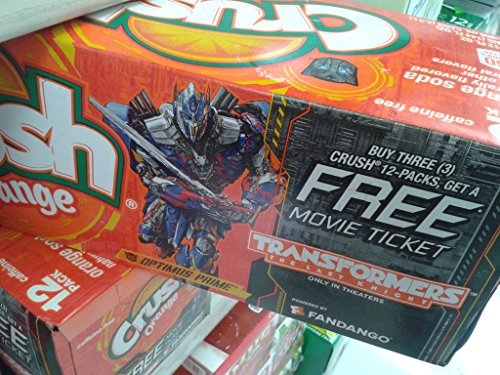 Transformers Edition The Last Night Promotion Pack, Crush Orange Soda, 12 fl oz, 12 count