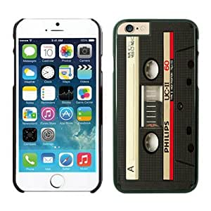 Customizable Audio Cassette Retro Designer Apple Iphone 6 4.7 Inches Screen Case Mate Cell Phone Black Cover