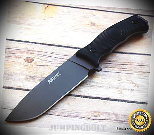 MTECH 4MM THICK BLADE FULL TANG FIXED BLADE HUNTING SURVIVAL SHARP KNIFE NYLON SHEATH - Premium Quality Hunting Very Sharp EMT EDC (Finish Sheath Nylon Titanium)