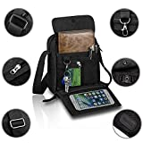 Harwish Men's Multifunctional Canvas Messenger Handbag Outdoor Sports Over ...