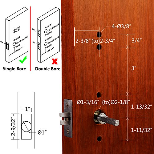 Right Handed Keyless Mechanical Door Lock Digital Code Security Keypad Entry Combination Door Handle Locks Stainless Steel 304 -NOT a Deadbolt and Only Fits Single Bore Door by MINGSUO (Image #5)