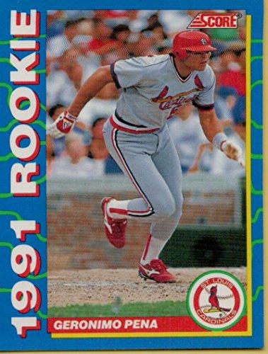 1991 Mlb Rookies - Baseball MLB 1991 Score Rookies #17 Geronimo Pena Cardinals