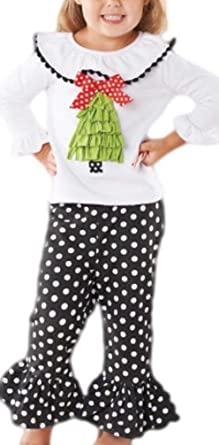 fb41f9c0f Amazon.com: Mud Pie Baby Girls' Christmas Tree Tunic and Legging Set: Infant  And Toddler Pants Clothing Sets: Clothing