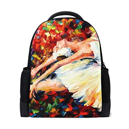 MONTOJ Ballet Dancer Colorful Art Polyester Travel Backpack Laptop Backpack (Louis Vuitton Ballet)