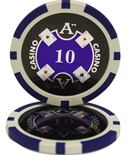 50 $10 Ace Casino Clay Composite 13.5 Gram Poker Chips