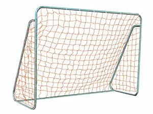 Goal Sporting Goods Small Sided Steel Soccer Goal with Ground Bar, 4 x 6-Feet, Silver