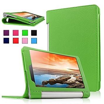 Es de país Lenovo Yoga Tablet 3 8 para - Slim Fit Folio PU-cuero fina de piel sintética para teléfono Lenovo Yoga Tablet 3-8 20,3 cm (20,32 cm IPS) ...