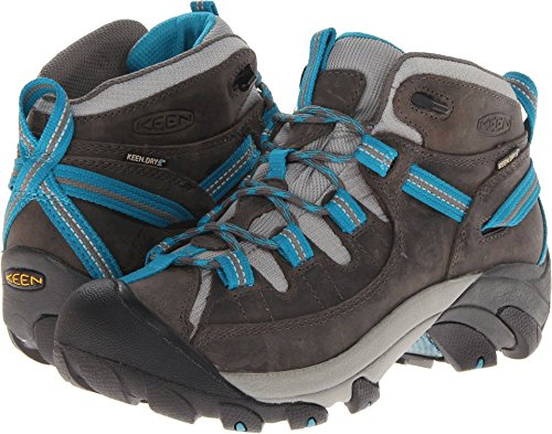 - KEEN Women's Targhee II Mid Waterproof Hiking Boot,Gargoyle/Caribbean Sea,9 M US