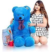 ATIF Soft Toys Long Soft Lovable hugable Cute Giant Life Size Teddy Bear 3 Feet 90 CMSKY Blue /and Wife/BOY Girl/ Gift