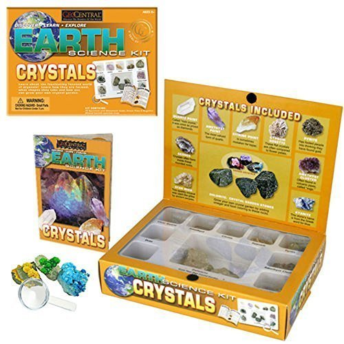 GeoCentral 12 Piece Crystals Earth Science Kit