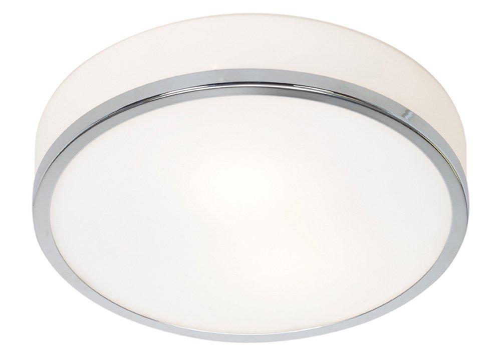 Aero - 1-Light 10''dia Flush Mount - Chrome Finish - Opal Glass Shade