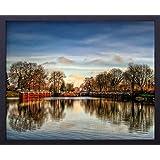 Quadro Decorativo Paisagem Parque Lago na Cidade de Fürstenwalde Decore Pronto Multicor 54x44 cm