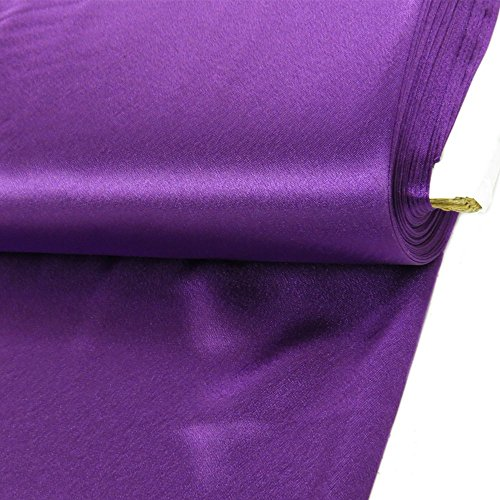 (Back Satin Crepe Fabric, 58 Inches Wide, Over 100 Yards in Stock - 50 Yards - Multiple Colors Available)