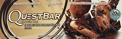 Quest Bar Double Chocolate Chunk, 12 Bars each, 3 Pack (2.12oz/bar)