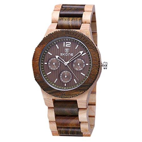 WTRW011-Bk Natural Wooden Wrist Watches Men Women Watch Fashion