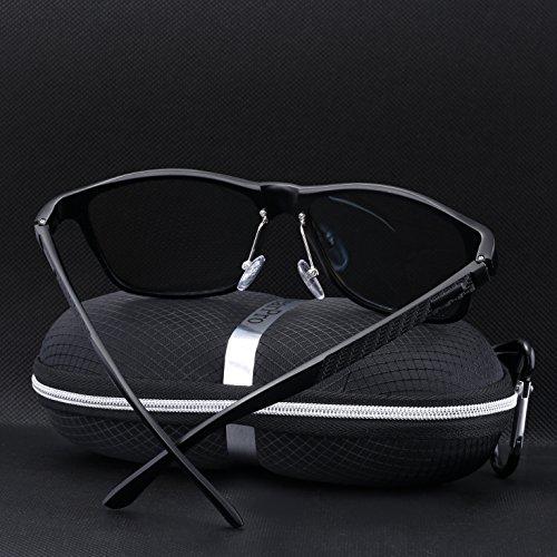 1bdf9a020f ... wearPro Wayfarer Sunglasses for Men Women Vintage Polarized Sun Glasses  WP1001 Black ...