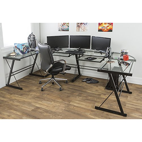 Walker Edison 3 Piece Contemporary Desk Multi Import It All