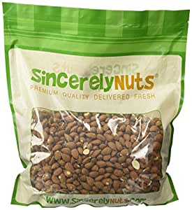 Sincerely Nuts Natural Whole Raw Almonds Unsalted No Shell - Five Lb. Bag - Absolutely Appetizing- Full of Healthy Nutrients - Kosher