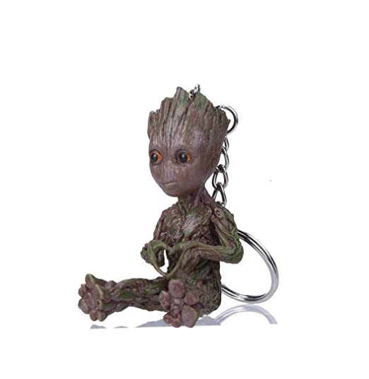 KEQI Groot Action Figures Guardians of The Galaxy Baby Cute Model Key Chain Toys Best Gifts