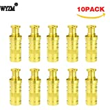 WYZM Brass Anchors Including Head Screw Bolt for any Brand of Pool Safety Cover (10)