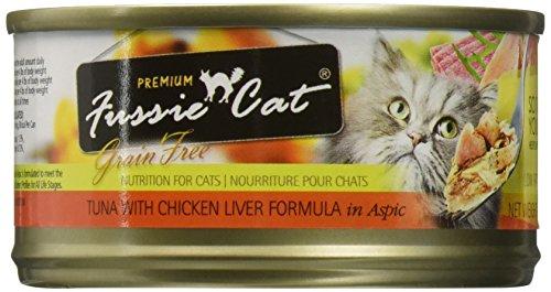 Fussie Cat Fcc022 Premium Tuna With Chicken Liver Formula In Aspic (24/1 Pack), 2.82 Oz/One Size