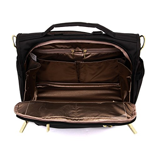 JuJuBe B.F.F Multi-Functional Convertible Diaper Backpack/Messenger Bag, Legacy Collection - The Monarch - Black by JuJuBe (Image #5)