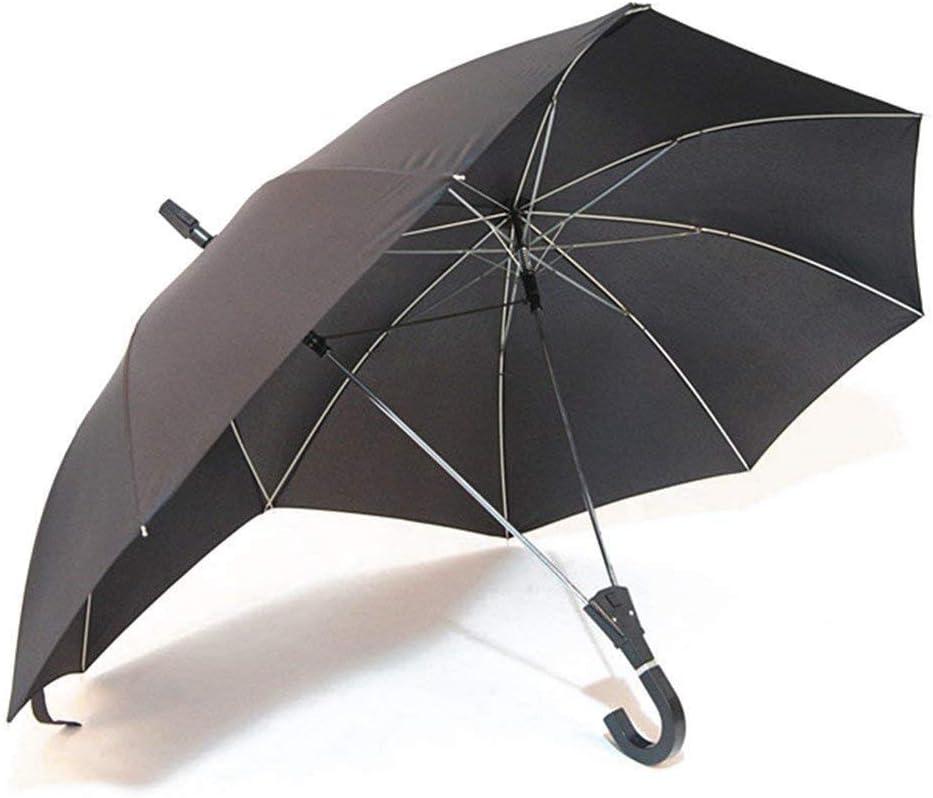 Paraguas alto de doble tamaño, para dos personas, resistente al viento, extra grande, 16 varillas negro Color 3