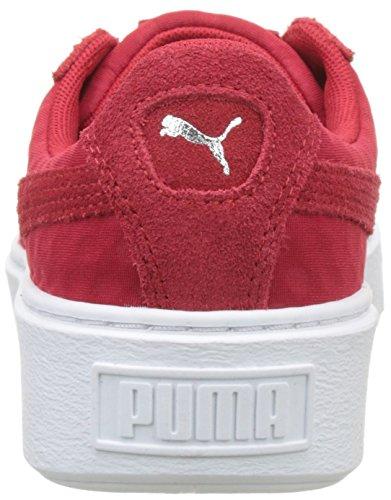 Puma Women's Basket Platform De Trainers, Black/Silver Red (Toreador-toreador 03)