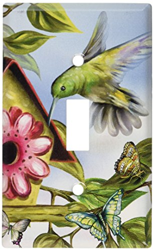 - Art Plates - Hummingbird House Switch Plate - Single Toggle