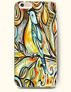 SevenArc Apple iPhone 6 Plus 5.5' 5.5 Inches Case Paisley Pattern ( Blue and Yellow Cute Bird )