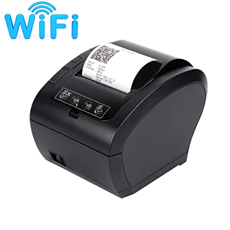 Amazon.com: WiFi POS Receipt Printer, MUNBYN White 80mm ...