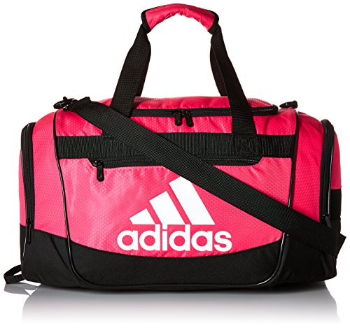 adidas Defender III medium duffel Bag, Shock Pink/Black/White, One Size