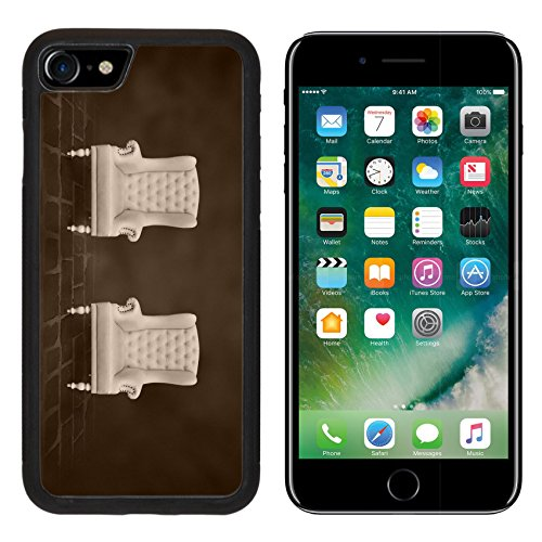 MSD Premium Apple iPhone 7 Aluminum Backplate Bumper Snap Case iPhone7 two vintage chair in a dark room IMAGE 19257795
