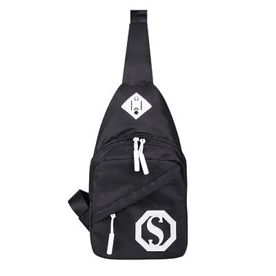 épaule Sling Bag / Multi-fonctionnel Sports de plein air Chest Sac Paquet, Noir
