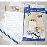 Aqua Notes - Waterproof Notepad 40 Sheet Mountable Pad (Pack of 2)