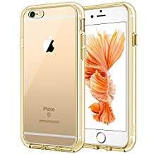 JETech Case for Apple iPhone 6 and iPhone 6s, Shock-Absorption Bumper Cover, Anti-Scratch Clear Back, Gold