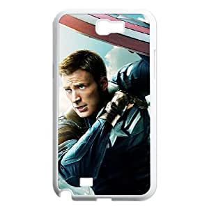 ANCASE Diy Phone Case Captain America Pattern Hard Case For Samsung Galaxy Note 2 N7100