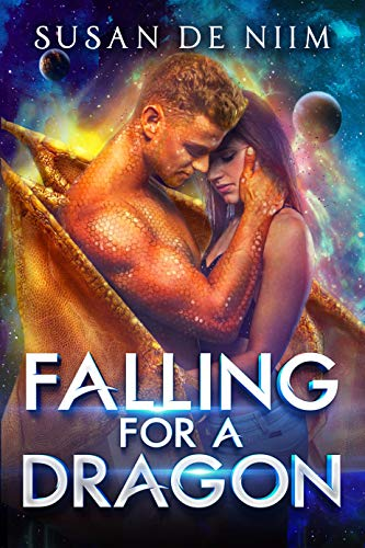 Falling for a Dragon: A Scifi Alien Romance (Cosmic Dragons Book 1)
