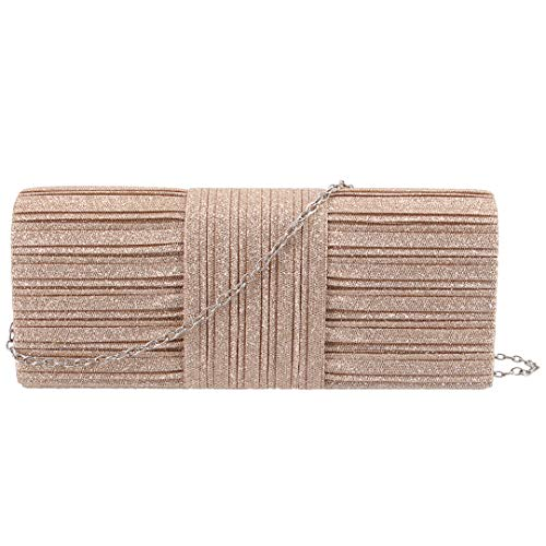 Paillette Womens Wrinkle Champagne Naimo Bag Purse 972 Sparkle Evening Bag Clutch 1EwWCdq