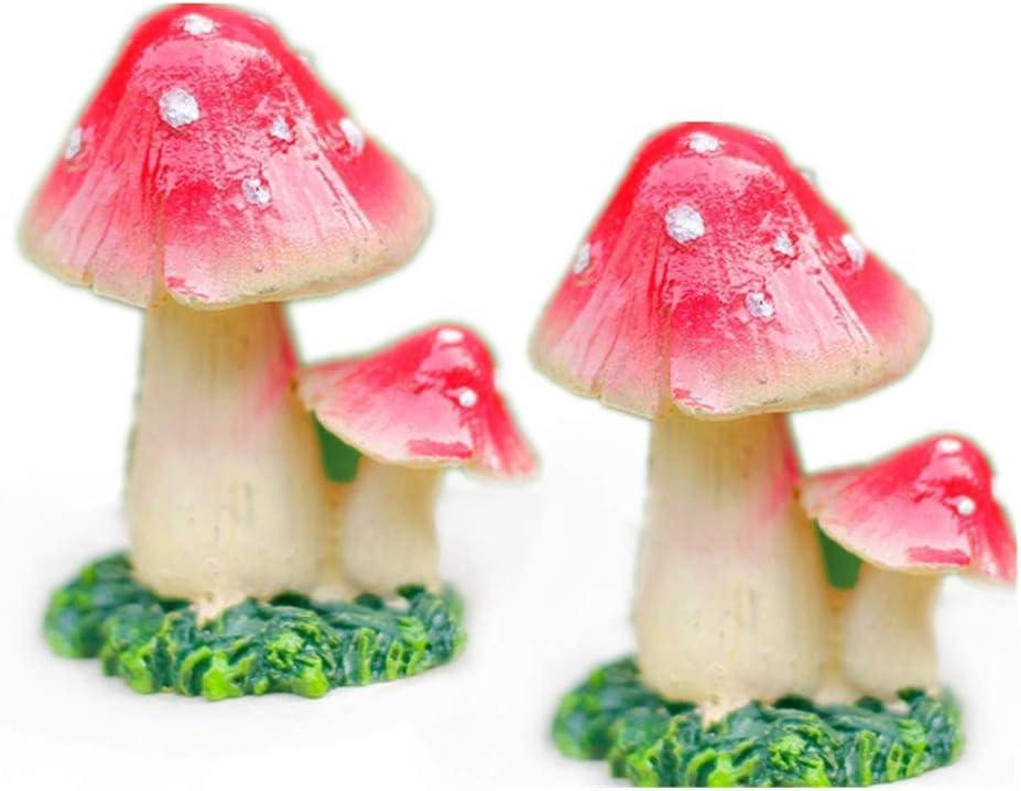 Mini Landscape Hedgehog Mushroom Garden Ornament for Plant Fairy Bonsai