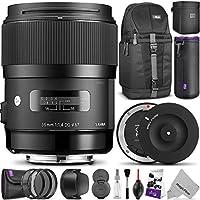 Sigma 35mm F1.4 ART DG HSM Lens for NIKON DSLR Cameras w/ Sigma USB Dock & Advanced Photo and Travel Bundle