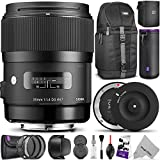 Sigma 35mm F1.4 ART DG HSM Lens for NIKON DSLR Cameras w/ Sigma USB Dock & Advanced Photo and Travel Bundle