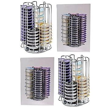 reliapart 104 rotación de T-Disc soporte estante para Bosch Tassimo máquina de café cápsula de Pods (2 x 52 Pod dispensador de torre): Amazon.es: Hogar