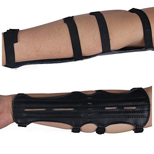 Toparchery 12'' Ultra Light Weight Leather Arm Guard Adjustable 4 Strap for Archery 1pk by Toparchery (Image #5)