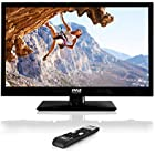 Pyle 23.6-Inch 1080p LED TV | Ultra HD TV | LED Hi Res Widescreen Monitor with HDMI cable RCA Input | LED TV Monitor | Audio Streaming | Mac PC | Stereo Speakers | HD TV Wall Mount (PTVLED23)